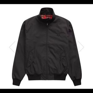 FRED PERRY HARRINGTON JACKET IN BLACK